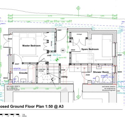 EDITED B23 A Proposed Ground Floor EXTENSION 1_50